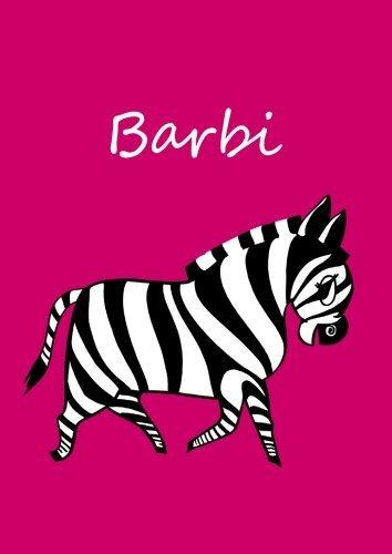 Barbi-individualisiertes-Malbuch-Notizbuch-Tagebuch-Zebra-A4-blanko