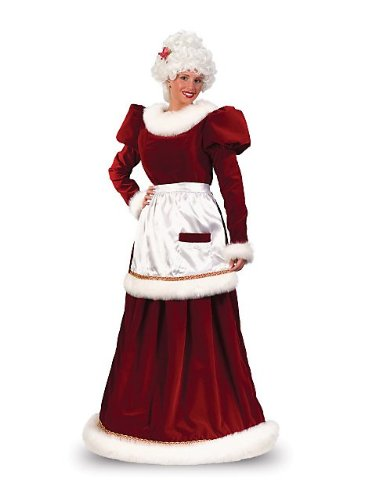 Adult Deluxe Velvet Mrs. Claus Costume
