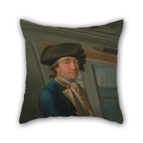 PaPaver Oil Painting Dominic Serres - Captain William Locker Throw Cushion Covers Best For Relatives Christmas Car Seat Couch Festival Bf 18 X 18 Inches / 45 By 45 Cm(twice Sides) (Blackbird Food Co compare prices)