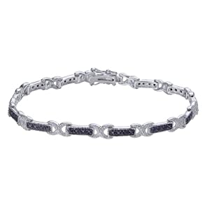 1/2 CT Black Diamond Bracelet in Sterling Silver