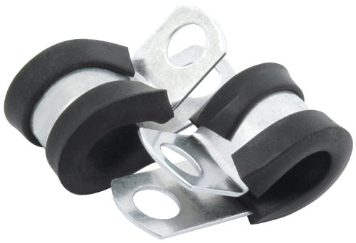 """Allstar Performance ALL18300 3/16"""" Rubber Cushioned Aluminum Line Clamp, (Pack of 10)"""