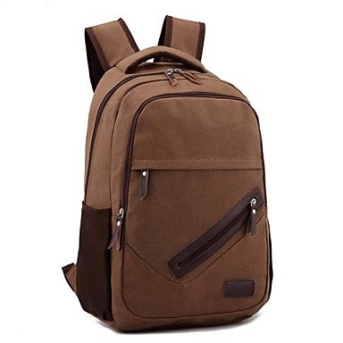 Zcl Outdoors Fashional Brown Canvas Backpack