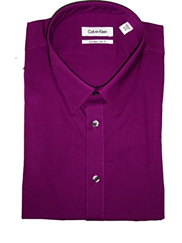 Calvin-Klein-Extreme-Slim-Fit-Shirt-Size-16-12-3435-Rosewood