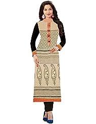 Aracruz Women's Clothing Designer Party Wear Low Price Sale Offer Beige & Black Color Plain Printed Jute Top Tunic...