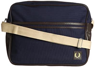 Fred Perry - Sac CANVAS SHOULDER Bleu Carbone
