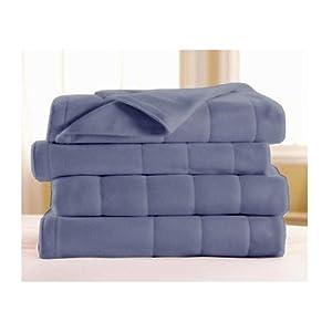 Sunbeam SlumberRest Quilted Luxury Heated Blanket Full Size Lagoon Blue