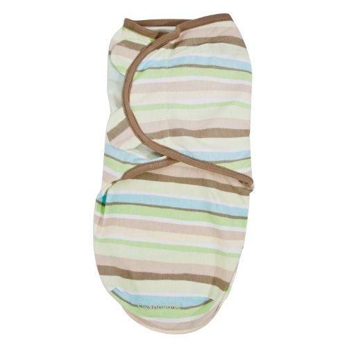 Summer Infant Swaddleme Adjustable Infant Wrap, Green/Tan
