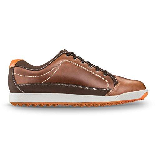 Men's Footjoy Footjoy Contour Casual Golf Shoe Brown/Orange Size 8.5 M US