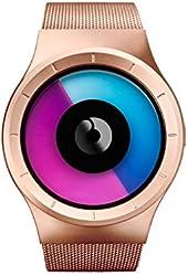 Ziiiro Mens Celeste Z0005WRM Rose Gold Purple Watch