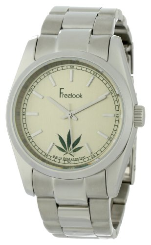 Freelook Men's HA5304-2E Viceroy Cannabis Champagne Dial Stainless-Steel Case and Bracelet Watch