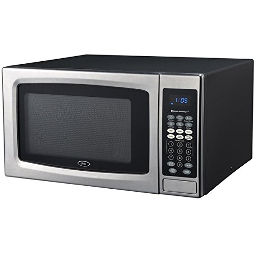 Oster OGZE1304S 1.3 Cubic Foot Black and Stainless Steel Digital Microwave Oven (White Toaster Oven Under Cabinet compare prices)