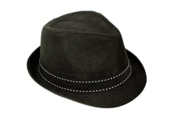 Simplicity Fashion Outdoor Travelling Black Fedora Trilby Cap Hat