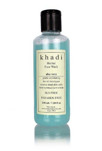 Khadi Aloevera With Scrub Herbal Face Wash (All Skin Types) 210 Ml