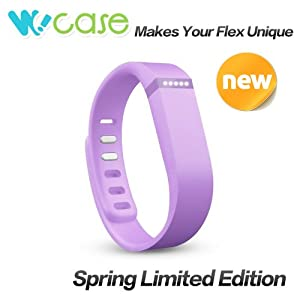 WoCase Replacement Accessory Wristband Lavender/Orchid/Light Purple with Clasp for Fitbit Flex Activity and Sleep Tracker (Large (6.3