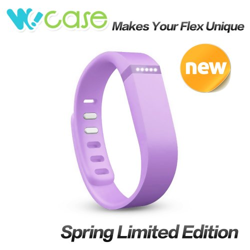 WoCase Replacement Accessory Wristband Lavender/Orchid/Light Purple with Clasp for Fitbit Flex Activity and Sleep Tracker