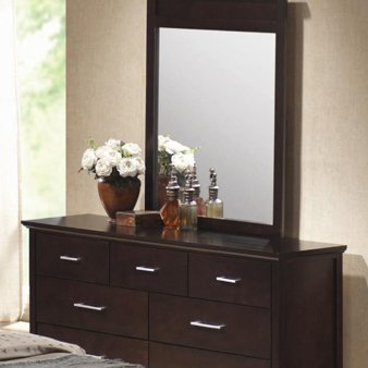 Kendra Dresser And Mirror In Dark Brown By Coaster Furniture back-916672