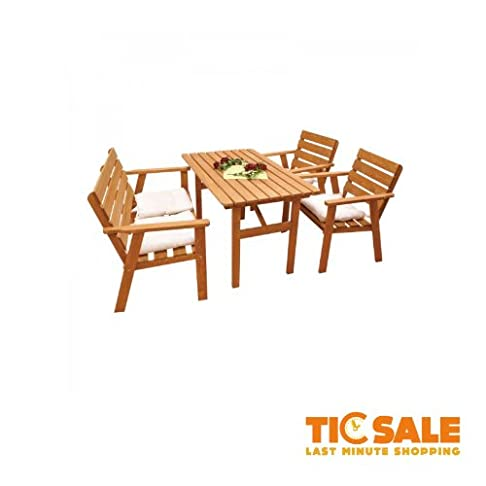 Kynast gruppo di sedie 4pezzi, legno di pino