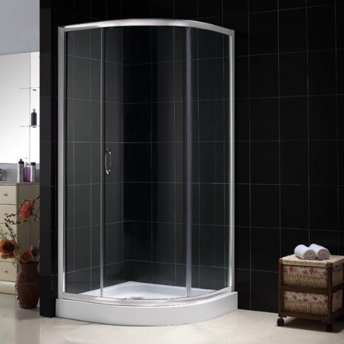 New Sparkle Shower Enclosure Sliding Door Optional Fiberglass Reinforced Acrylic Tray Chrome Large