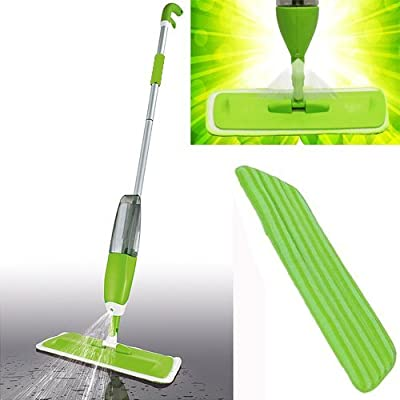 Spray Mop Water Spraying Floor Cleaner Tiles Marble Kitchen 350ml Micro Fibre