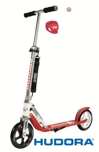 Hudora Scooter / Roller / Cityroller Big Wheel MC / RX 205 mit LENKERLICHT (ROT)