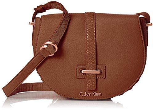 Calvin Klein JeansPOPPY SADDLE BAG - Borsa a tracolla Donna , Marrone (Braun (WHISKEY 224)), 15x18x6 cm (B x H x T)
