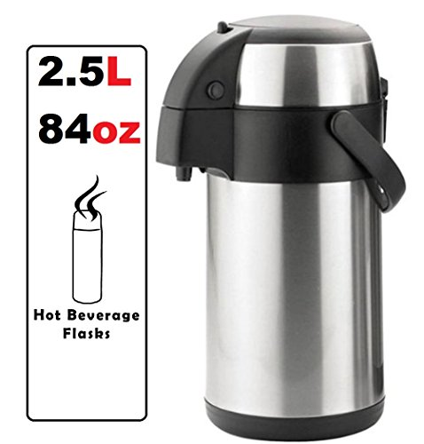 Coffee Makers Airpot - Best Coffee Dispenser / Coffee Station for Office, Work & Parties. Restaurant Coffee Quality, Sizes - 2.5 Litres / 84 ounces by Hot Beverage Flasks (2.5L / 84oz - Small) (Automatic Coffee Dispenser compare prices)