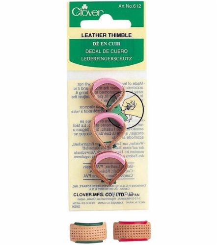 Clover Leather Thimble Set, 3