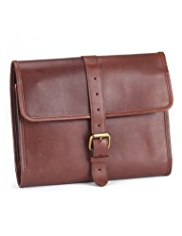 Blue Harbour Leather Washbag