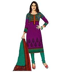 Shree Ganesh Multi Colour Cotton Printed Unstitched Churiddar Suit with Dupatta