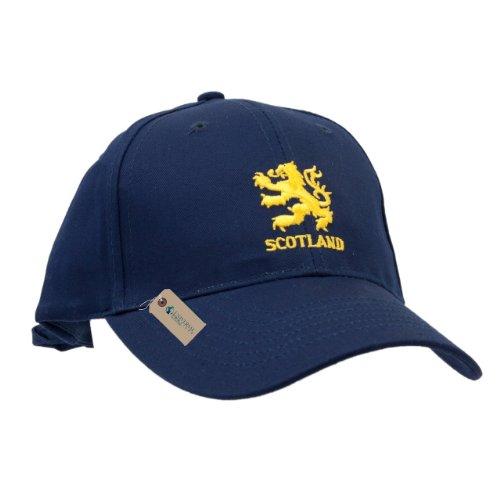 Mens Scotland Embroidered Navy Baseball Cap