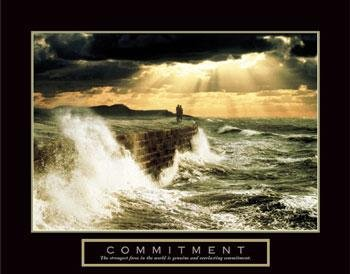 Commitment Motivational Poster Inspirational Crashing