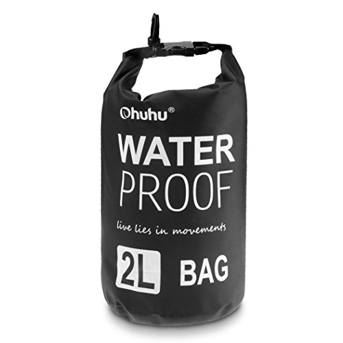 Ohuhu Dry Sack/ Waterproof Bag for Boating, Kayaking, Hiking, Snowboarding, Camping, Rafting, Fishing and Backpacking, Black (Dry Top Kayak compare prices)