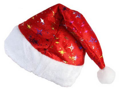 S Cloth Red Adult Plush Red White Santa Hat Warm Winter Christmas Xmas Gift Cap