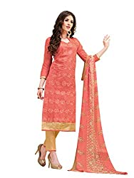 Women's Chanderi Cotton Salwar Suit Dress Material with dupatta By Brand Manvaa