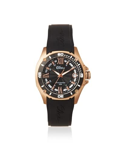 Elini Barokas Women's 10197-RG-01-BB Artisan Black/Rose Watch