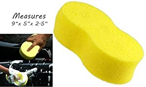 """X-Large Super-Absorbent Sponge - 8.5"""" x 4.5"""" - Holds 34 oz of Liquid - Car Wash, Cleaning, Spill Mop-up"""