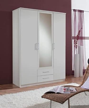 Venice Alpine White 4d 2drw Wardrobe