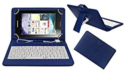 ACM PREMIUM USB KEYBOARD TABLET CASE HOLDER COVER FOR LENOVO IDEA PAD A3000 With Free MICRO USB OTG - BLUE