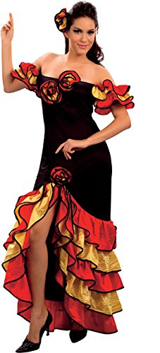 Ladies Fancy Party Rumba Woman Spanish Salsa Flamenco Mexican Dancer Dress