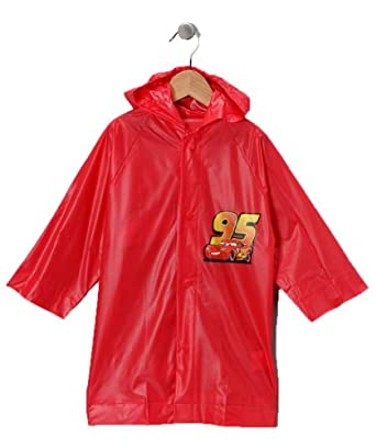 Disney Pixar Cars Lightning Mcqueen Boy s Red Rain Slicker Size Small 3775b5ed5