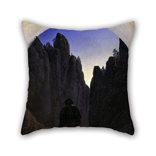 [Uloveme Pillowcover Of Oil Painting Carl Gustav Carus - Pilger Im Felsental 18 X 18 Inches / 45 By 45 Cm,best Fit For Son,living Room,festival,sofa,home Office,son 2] (Im Invisible Leopard Kids Costumes)