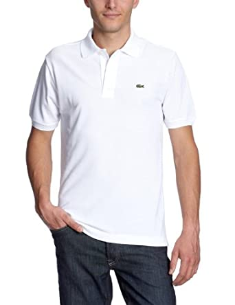 Lacoste Chemise Col Bord-cotes Manches Courtes Polo Shirt - White