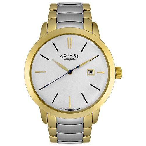 708b81e0b772 Rotary Men s GB02487 06 Kensington Collection Two Tone Stainless Steel Watch