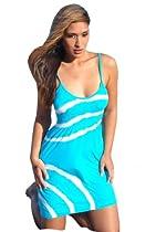 Ingear Seamless Spaghetti Dress Blue One Size