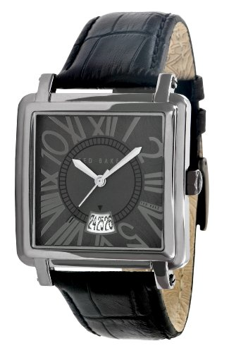 Ted Baker TE1029 Gents black leather strap watch