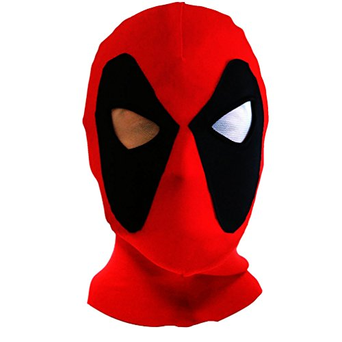 Fashion Cos Halloween mask Cosplay Costume Lycra Spandex Mask Red/Black Kids sizes
