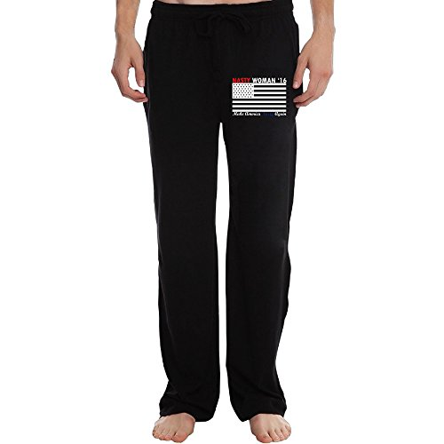 Men's Athletic Sweatpant - Make America Nasty Again Casual Long Pant With Pockets For Workout Gym Running Black XX-Large