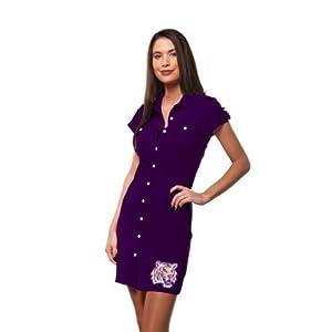 LSU Tigers Chicka-d Ladies Purple Shirtdress by Chicka-D LLC