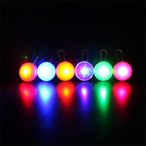Coffled®1Pc Led Flasher Pet Dog Blinker Circular Light Pendant Collar Buckle Clip Safety (Green)