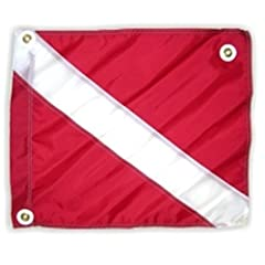 Buy Innovative Scuba Nylon Dive Flag 14 x 18 With Stiffener by Innovative Scuba Concepts